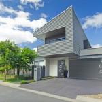 Maison moderne porte d'entrée